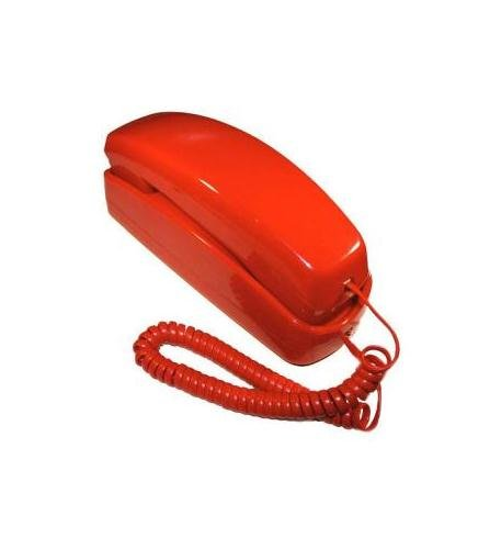 Golden Eagle Trimline Corded Telephone - Design From 60s With Modern Electronics -Red ()
