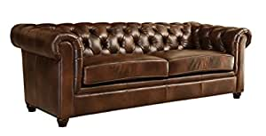 Abbyson Foyer Premium Italian Leather Sofa