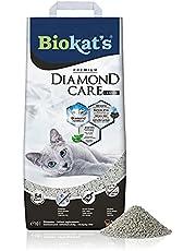 Biokat's Diamond Care Classic kattenbak, hoogwaardige klompstrooi voor katten met actieve kool en aloë vera, 1 papieren zak