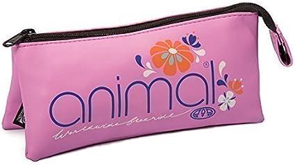 Animal Estuche 3 Bolsillos Funda Bolis Rosa Chicle Miama: Amazon.es: Oficina y papelería