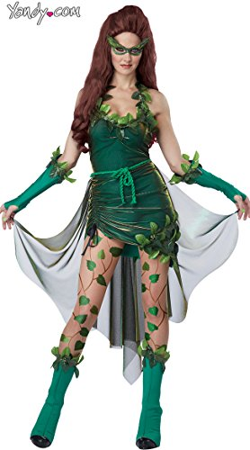 California Costumes Women's Eye Candy - Lethal Beauty Adult, Green, Large