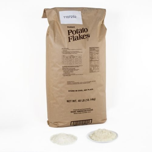 Potato Flakes Instant 40 Pound -- 1 Case by Basic American Foods