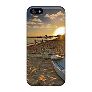 Unique Design Iphone 5/5s Durable Cases Covers Sunrise On Sleepy Beach