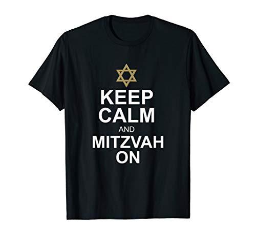 - Bar Mitzvah Gift TShirt Funny Keep Calm & Mitzvah On