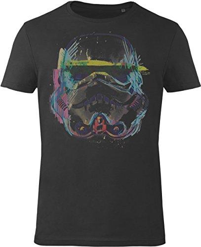 GOZOO Star Wars T-Shirt Herren Imperial Stormtrooper Sketch Art 100% Baumwolle Schwarz