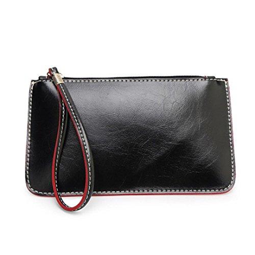 Saingace Art- und Weisefrauen-Handtaschen-Dame Envelope Clutch Tote-Beutel-Kupplungs-Geldbeutel-Schulter-Beutel Handtaschen Schultertasche Schwarz