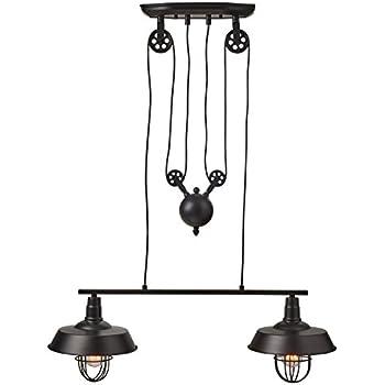 Winsoon Industrial Vintage Chandeliers Pulley 3 Light