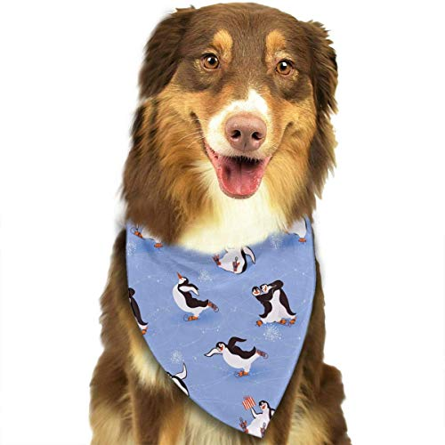 Mastexoru Pet Bandanas Penguins Skating Triangle Bandana Scarves Accessories for Pet Cats and Dogs - Gifts