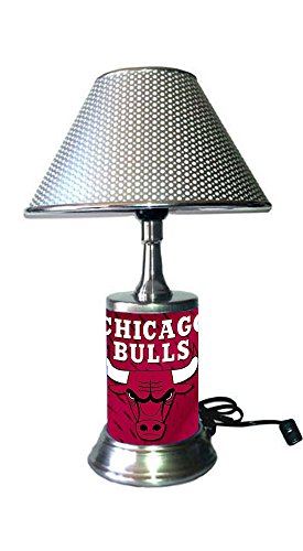Chicago Bulls Lamp with chrome shade