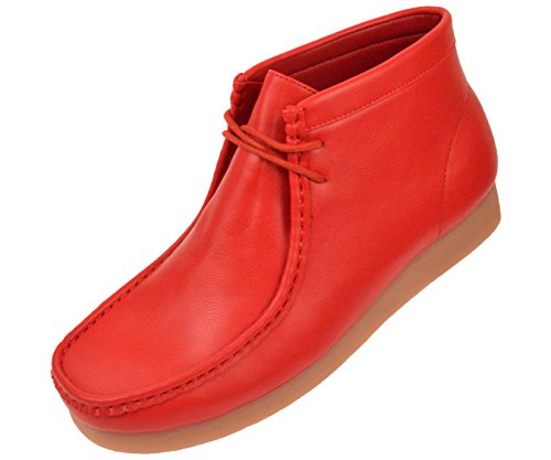 Amali Faux Leather High Top Moc Boot With Crepe Like Sole Style Justin