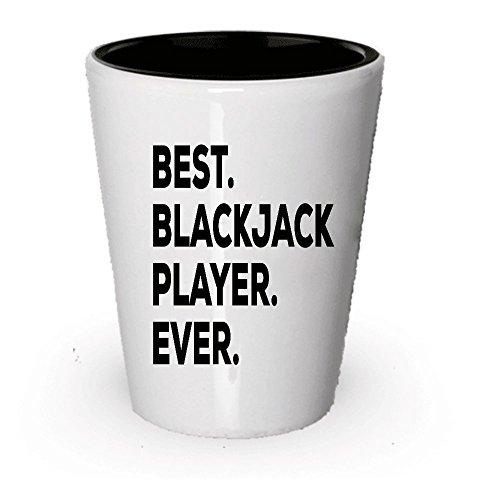 Blackjack Shot Glass Gifts - Best Blackjack Player Ever - Gifts For Blackjack Players (1)