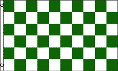 Green & White Checkered Flag 3x5ft Poly