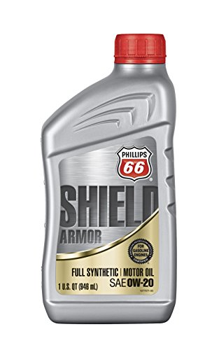 (Phillips 66 1076995-12PK Synthetic Oil (Shield Armor Fully 0W20-1 Quart), 32. Fluid_Ounces, 12 Pack)