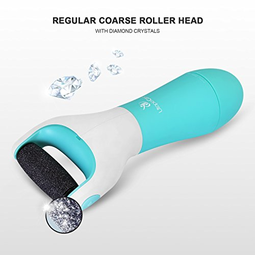 Waterproof Electric Foot File Callus Remover For Feet - Powerful Motor And 360 Degree Rotatable Roller Head Smooths Skin Quickly - Use On Dry Or Wet Feet (Batteries Not Included) - By Utopia Care by Utopia Care (Image #7)