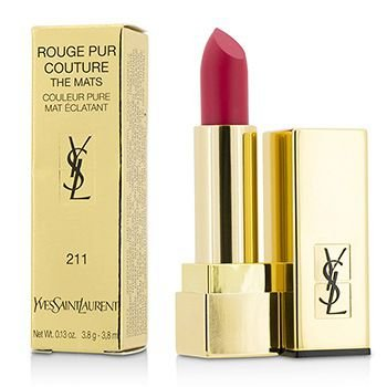 Yves Saint Laurent Rouge Pur Couture The Mats, No. 211 Decadent Pink, 0.13 - Pink Pure Lipstick Laurent Yves Saint
