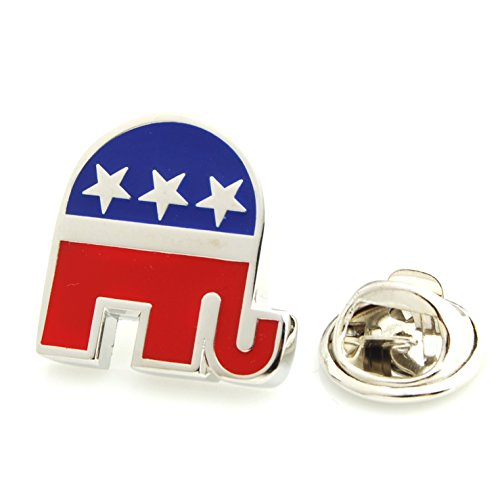 Pin Republican Elephant (Smart Man Men's Republican Party Lapel Pins for Mens Gift)