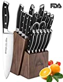 Emojoy 18PC Kitchen Knife Set w/ Wood Block German Stainless Steel Deal (Small Image)