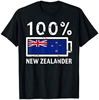 [Featured] New Zealand Flag | 100% New Zealander Battery Power in ALL styles | Size S - 5XL