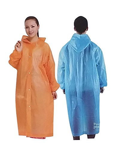120 PEVA Waterproof HOODED Adult Raincoat Poncho Lightweight & Reusable Unisex Fit's Most Adults Wholesale Lot Bulk For Sporting Events, Camping, Traveling, Concerts ()