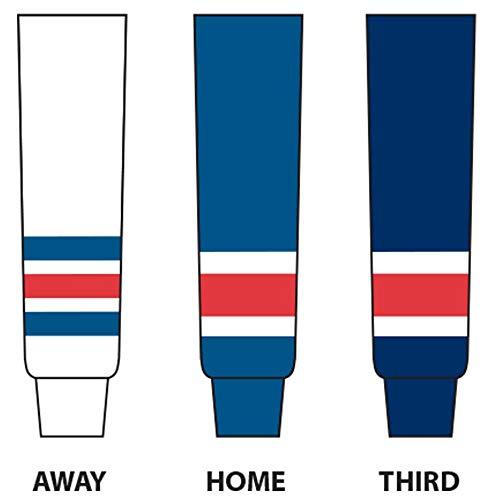 DoGree Hockey New York Knit Hockey Socks, Royal/White/Red, Youth/20-Inch