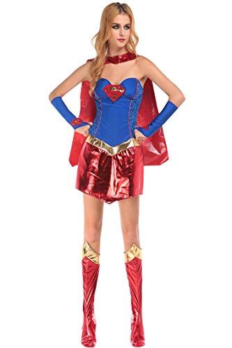 Pink Queen® Marvel Universe Superman Superwoman Womens Adult Halloween Costume (Superwoman Halloween Costumes)