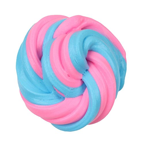 Gbell Beautiful Fluffy Slime, Colorful Mixing Cloud Cotton Candy Slime Scented Stress Relief No Borax Kids Toy Sludge Toy for Kids&Adults (C) (Things For One Dollar)
