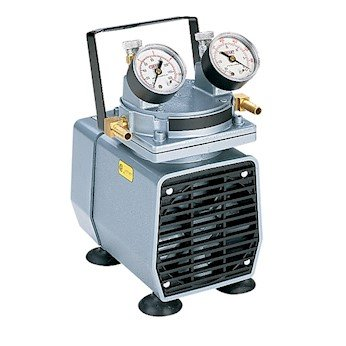 Gast DAA-V715-EB High-Capacity Vacuum Pump, with Gauge, Regulator, and Relief; 2.2 cfm, 25.5