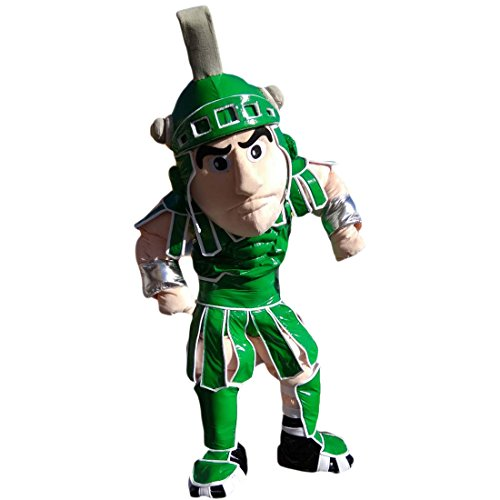 Langteng Green Warrior Soldier Knight Guard Mascot Plush Cartoon Costume with Mask for Adult Cosplay Party Halloween Dress Up]()