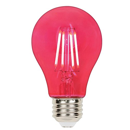(Westinghouse Lighting 5129000 4.5 (40-Watt Equivalent) A19 Dimmable Pink Filament Medium Base LED Light Bulb,)