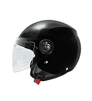 Shiro Casco Jet, sh62, GS, color negro mate, tamaño XXL