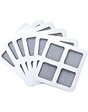 Screen Repair Kit for Window & Door, Fiberglass Cloth Mesh Tape Insect Barrier Extra Strong Self Adhesive, High Visibility and Durable Screen, Easy to DIY Repair (Large 6pcs)