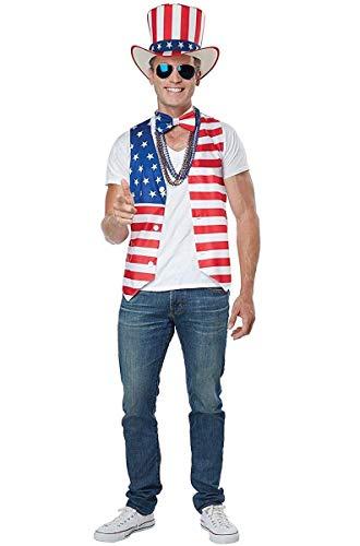 (California Costumes Men's Patriot Man Kit Adult Woman, red/Blue/White,)