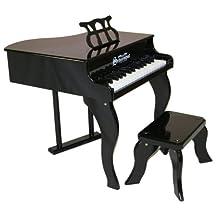 Schoenhut Black 30 Key Fancy Baby Grand Piano