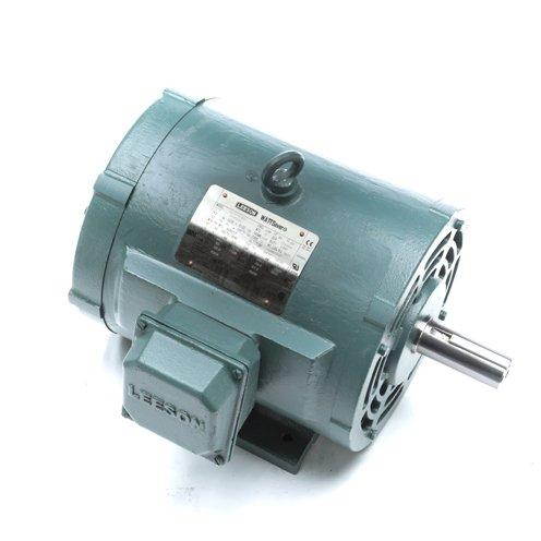 213t Frame Rigid Base - Leeson Electric 171574.60 - General Purpose Motor - 3 ph, 3 hp, 1200 rpm, 208-230/460 V, 213T Frame, Drip Proof Enclosure, 60 Hz, Rigid base Mount