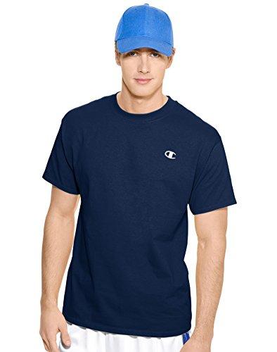 Champion Men`s Cotton Jersey T Shirt, L-Navy