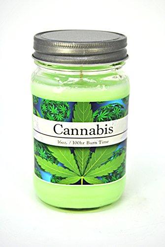Cannabis Weed Marijuana Hemp 100% Soy 16oz Candle