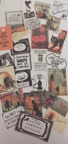 Halloween Die Cuts/Gift Tags 25 Vintage Style Pieces