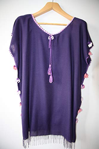 Handmade(handcraft) tunic and dresses maxi,midi and mini with different colours embroidered bohemian dress purple dress by softdresshandmade