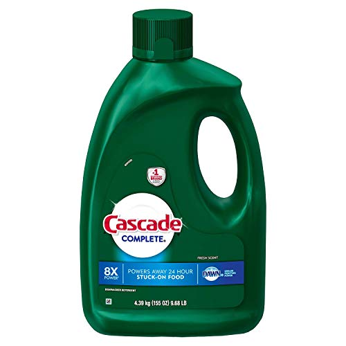 Cascade Complete Detergent, Fresh, 125 Fluid Ounce (Dishwasher Detergent Liquid Gel)
