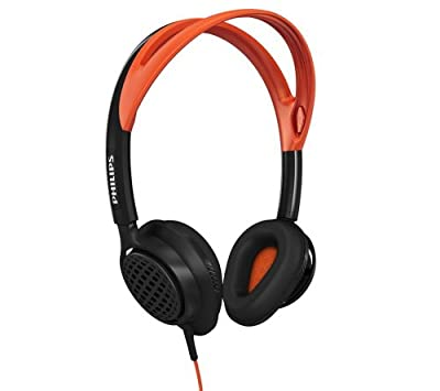 Philips ActionFit SHQ5200 on-ear sports Headband Headphones, Black/Orange