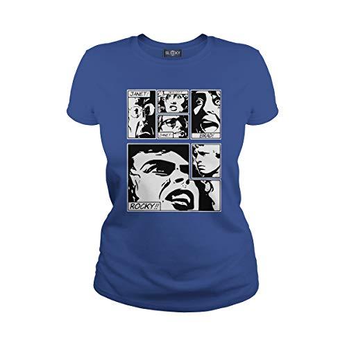 Women's Rocky Horror Picture Show T-Shirt (M, Royal Blue) -