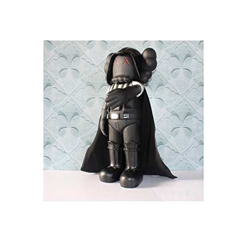 KawJumbo Black Dark Vader KAWS 20 inch BFF Dissected Companion Original Fake Art Toys Action Figure Figurine Plush Doll Toy Model Statue Accessories Collection Morden Gift with Origina ()