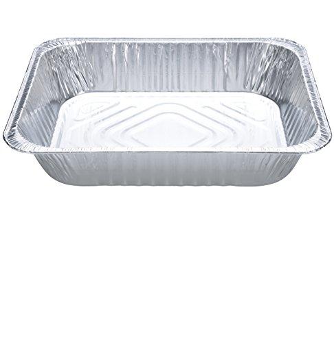 DOBI Aluminum Pans (30-Pack) - Disposable Aluminum Foil Steam Table Deep Pans, Half Size Chafing Pans - 12 1/2'' x 10 1/4'' x 2 1/2'' by DOBI (Image #3)
