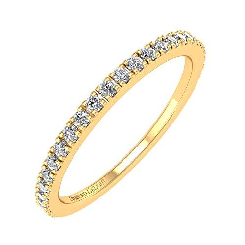 - 10K Yellow Gold Wedding/anniversary Diamond Band Ring (0.22 Carat) - IGI Certified