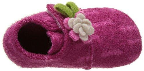 Living Kitzbühel Baby Mädchen Babyklett Blume Lauflernschuhe Pink (Magenta 360)