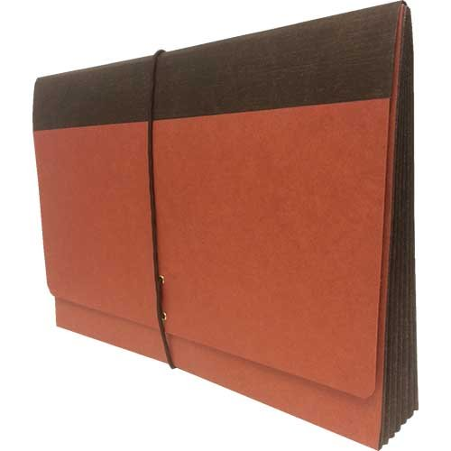 Bushnell Expanding Wallet, Legal Size with 5 1/4'' Fully Lined Reinforced Tyvek Expansion, Elastic Tie Closure, 25 per Carton