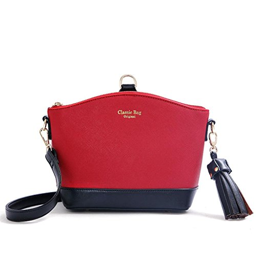 single Bag Handbag shoulder Girls Shopping Work Red messenger bag Lady School NVBAO Shell Stylish qtxwHpf