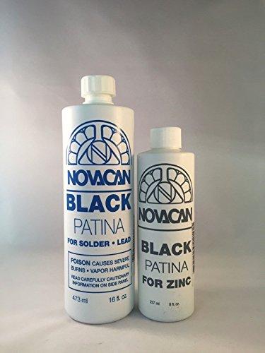 Novacan Black Patina For lead, solder (16oz) & zinc (8oz)