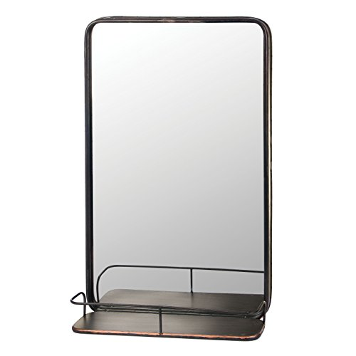 Skalny 84695 19.5''X6.5''X32'' Rectangle Metal Shelf W/Mirror by Skalny