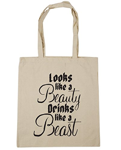 Natural drinks x38cm beast Gym beauty Shopping litres Looks like 10 Tote a a HippoWarehouse like Bag 42cm Beach xICRTqw